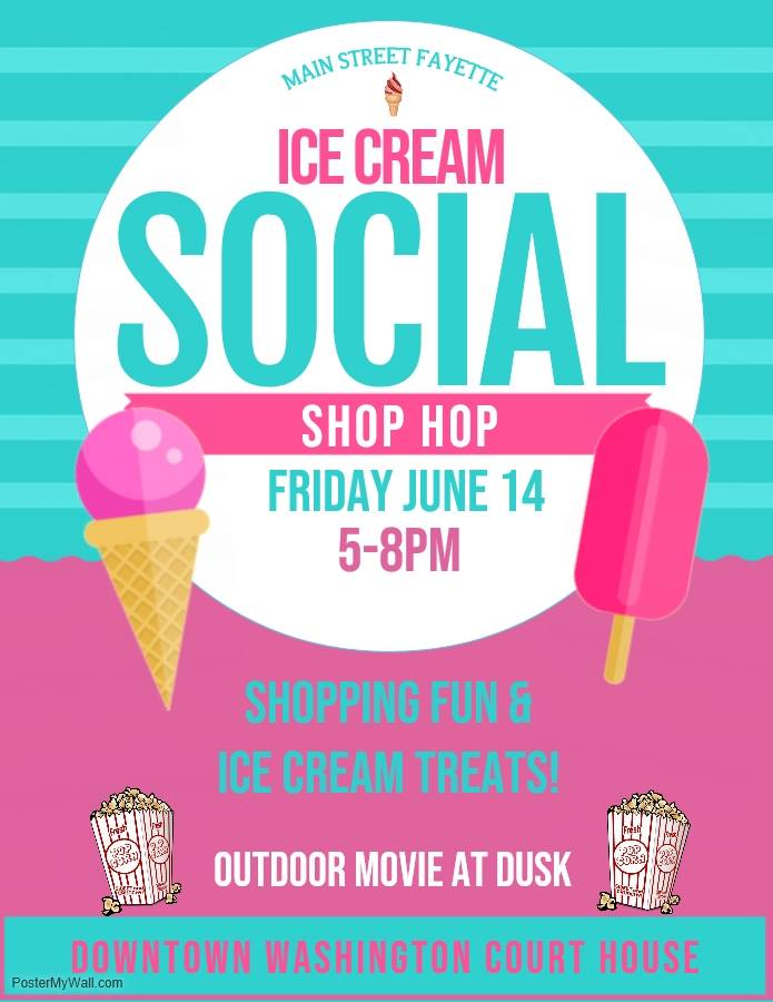 Ice Cream Social. 5-8pm. Outdoor movie at dusk