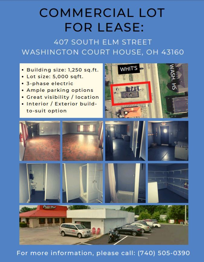 407 South Elm Street. Commercial property. Specs listed. pics of inside and outside of property